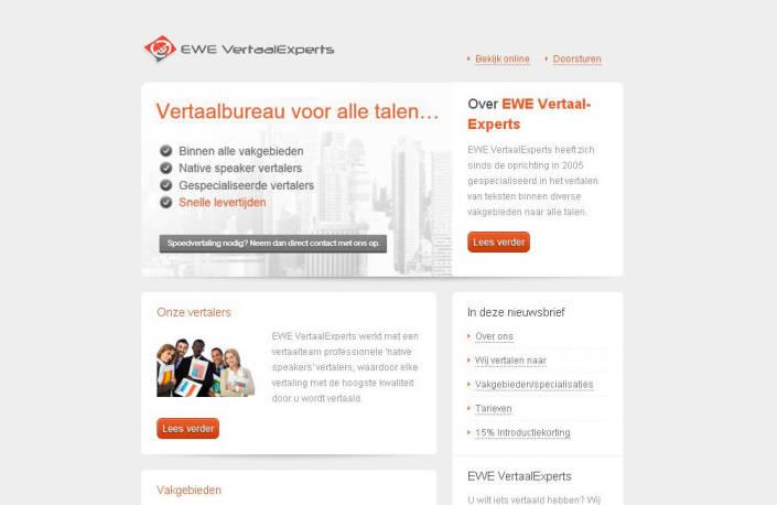 EWE VertaalExperts nieuwsbrief screenshot