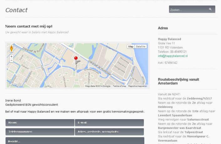 Happy Balanced website screenshot