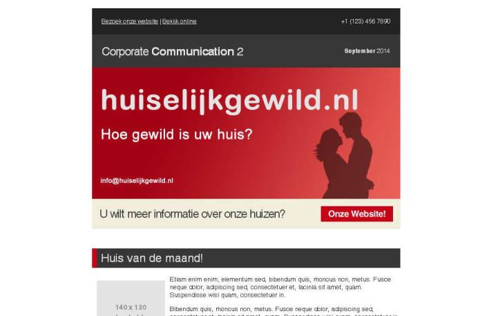 Huiselijkgewild nieuwsbrief screenshot