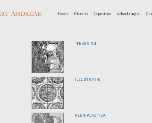 Kunstenaar Bert Andreae